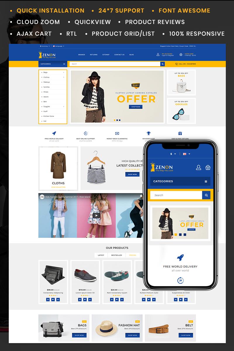 Reszponzív Zenon Fashion Store OpenCart sablon 85400