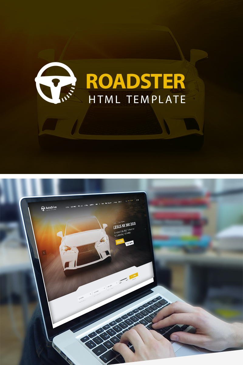 """Roadster - Automotive"" Responsive Website template №85468"