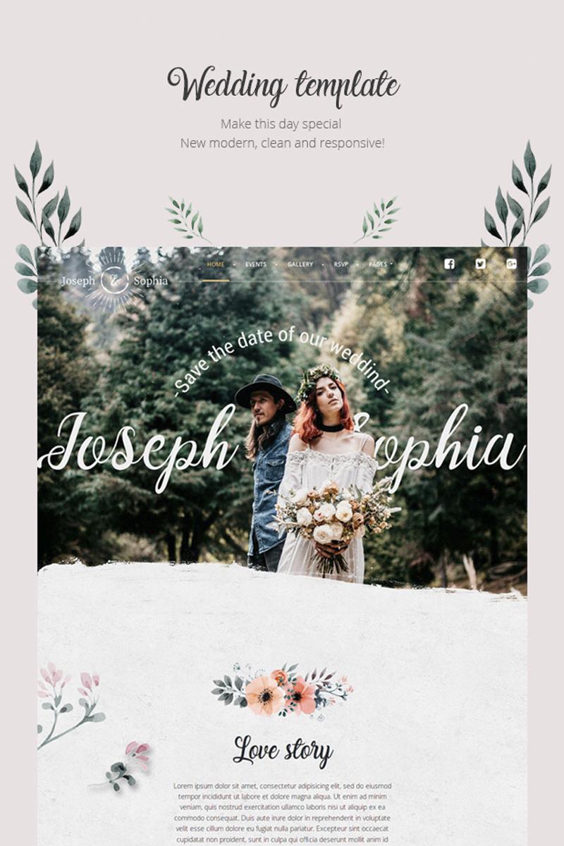 "Tema WordPress Responsive #85470 ""QueenFlowers - Wedding"" - screenshot"