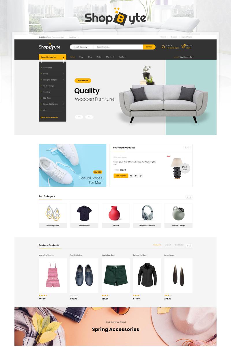 "WooCommerce Theme namens ""ShopByte - Mega Store"" #85469"