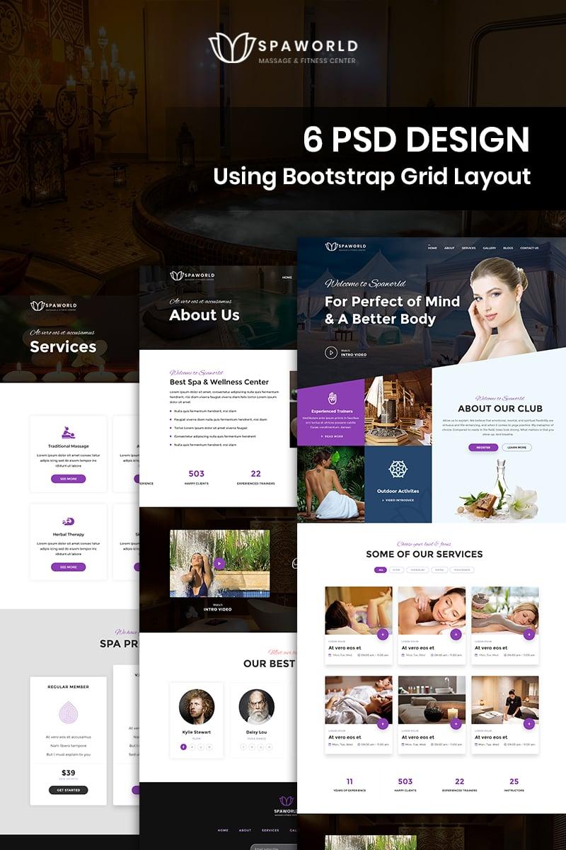 Bootstrap szablon PSD Spaworld - Beauty Spa #85566