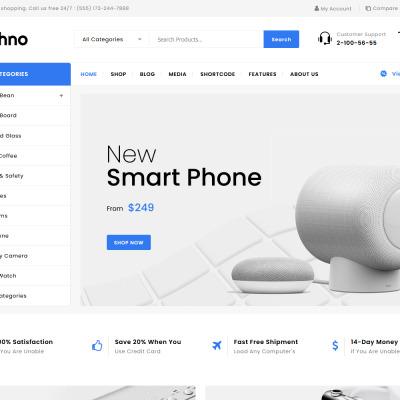 Etechno - Electronics Multipurpose WooCommerce Theme WooCommerce Theme #85564
