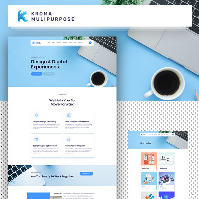 "HTML шаблон ""Kroma 