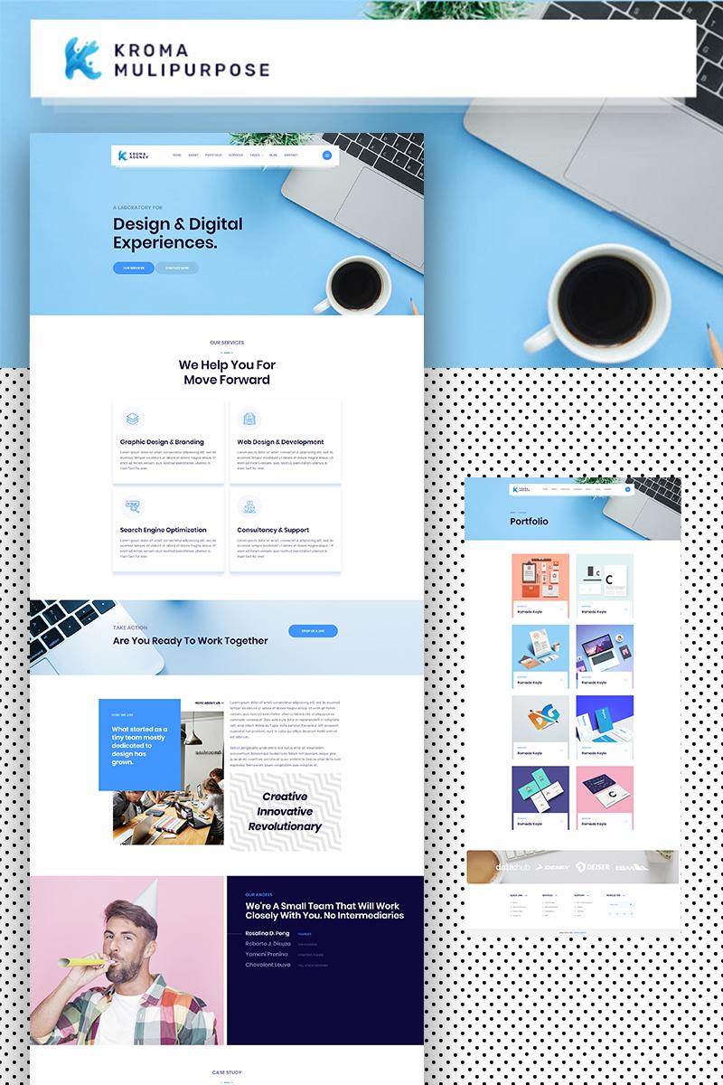 Kroma | Creative Multipurpose Website Template - screenshot