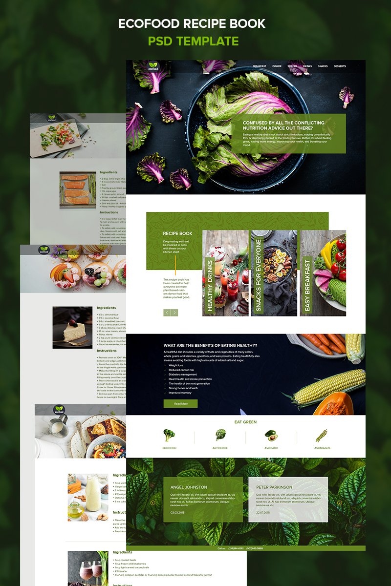 "PSD Vorlage namens ""Ecofood -"" #85569"