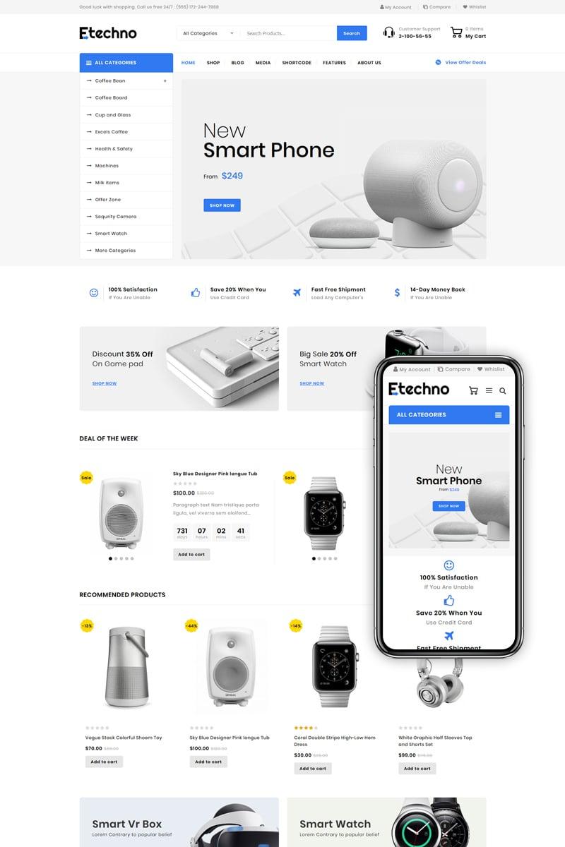 Reszponzív Etechno - Multipurpose Store WooCommerce sablon 85564