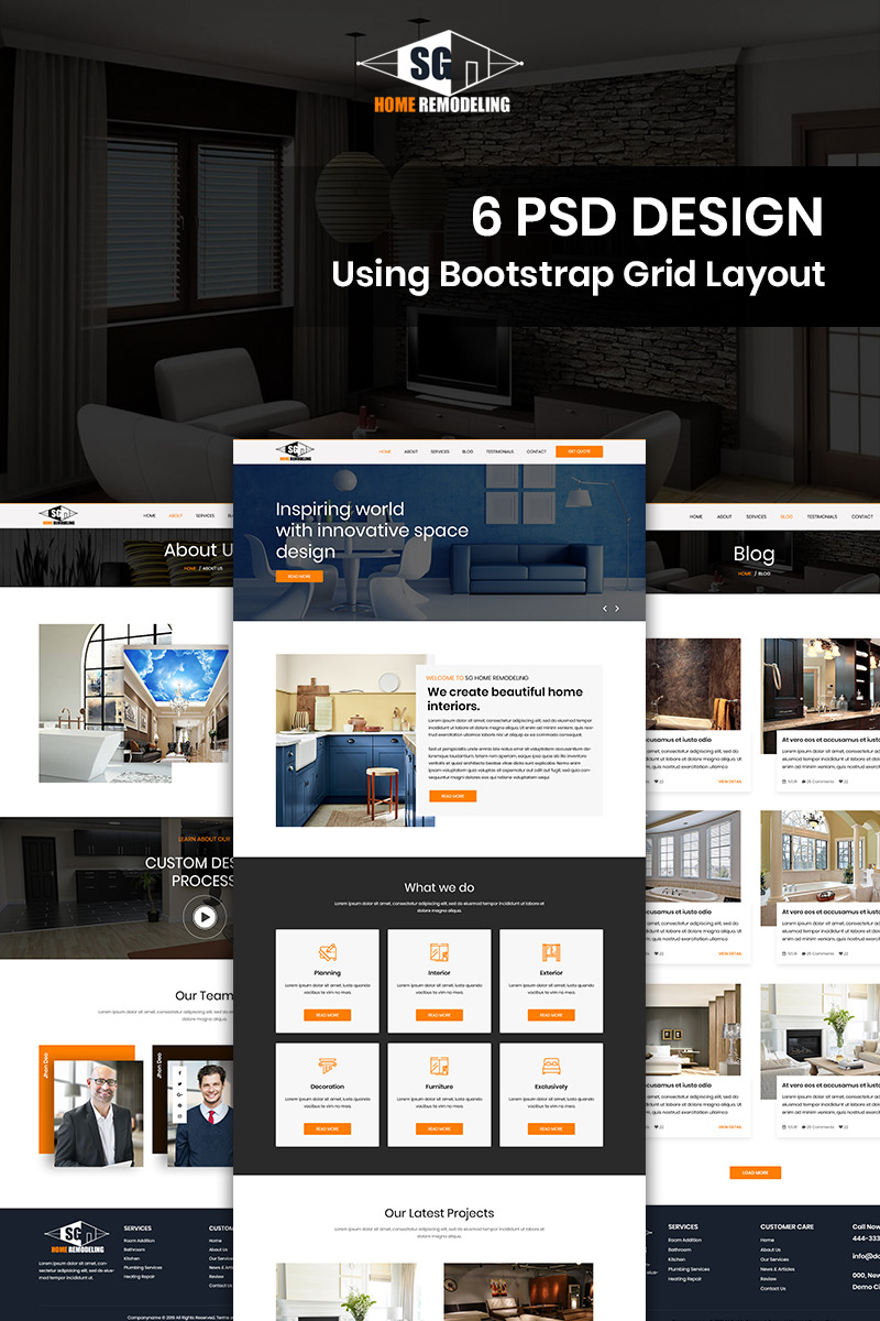 Sg Home Remodeling Home Remodeling Psd Template