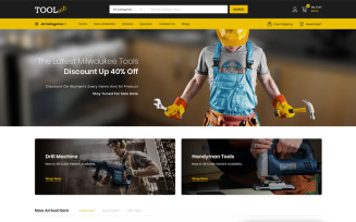 Tools Arts - Power Tools Store OpenCart Template