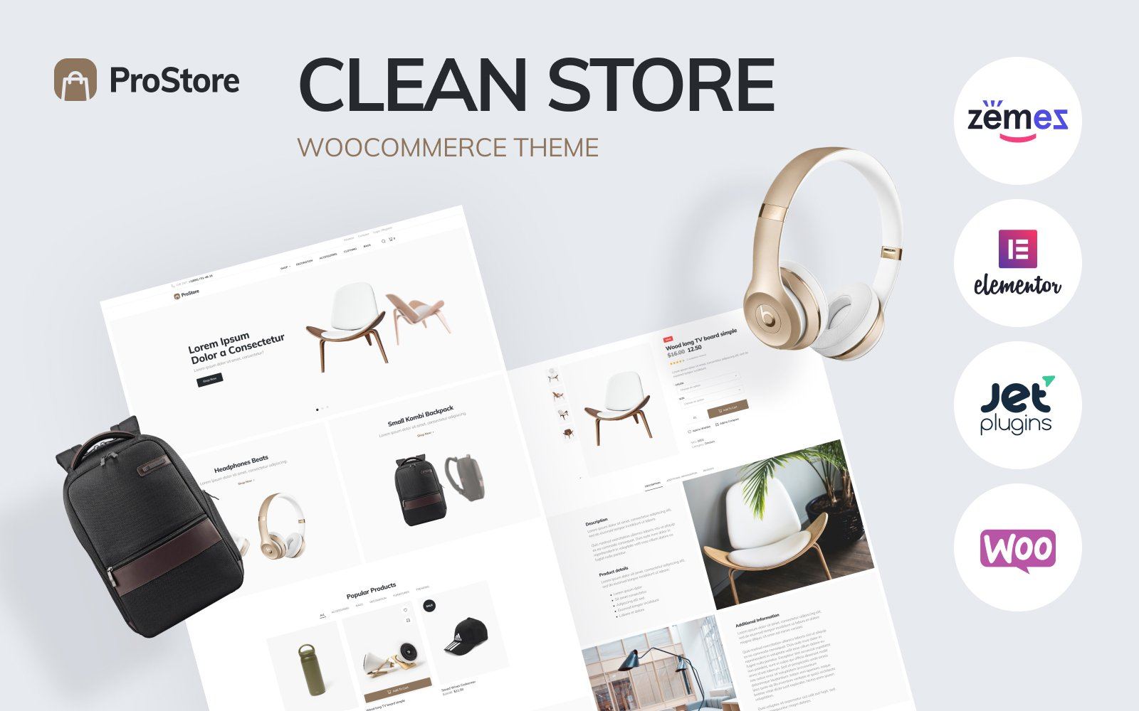 "WooCommerce Theme namens ""ProStore - clean store template for WooCommerce with Elementor"" #85599"