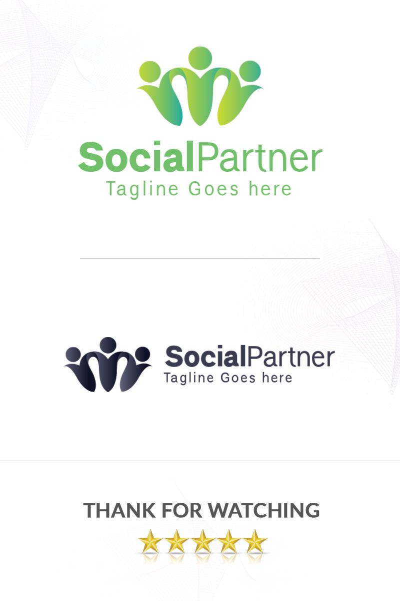 SocialPartner Template de Logotipo №85645