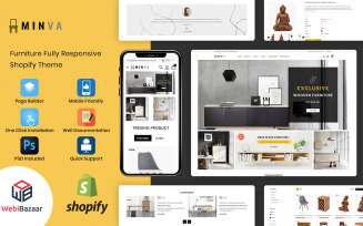 Minva - Multipurpose Furniture Store Shopify Theme