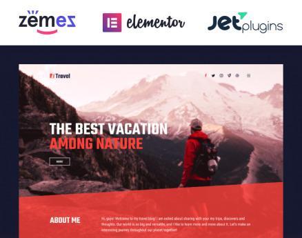 ITravel - Trendy Travel Blog Website Template for Elementor builder WordPress Theme