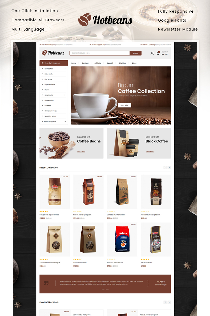 Hotbeans - Coffee Store №85784