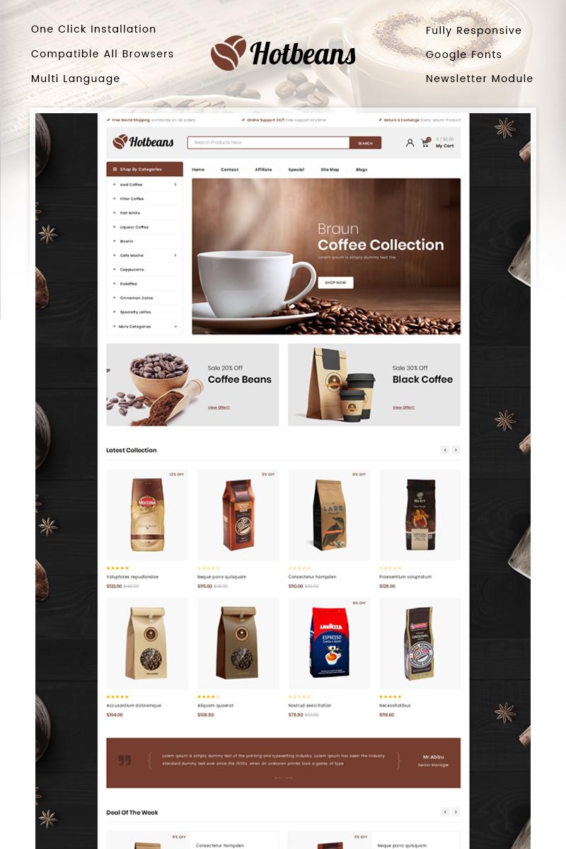 "Modello OpenCart Responsive #85784 ""Hotbeans - Coffee Store"""
