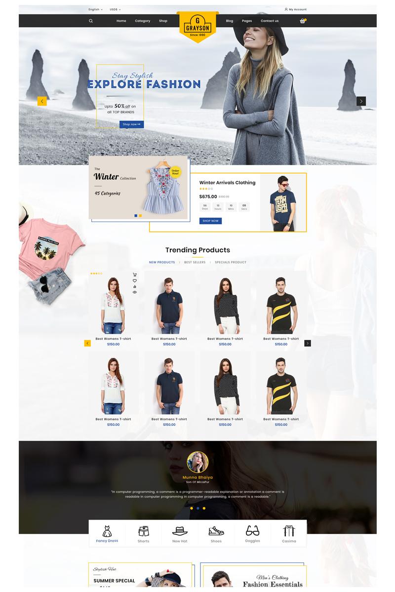 "OpenCart Vorlage namens ""Gray_fashion"" #85751 - Screenshot"