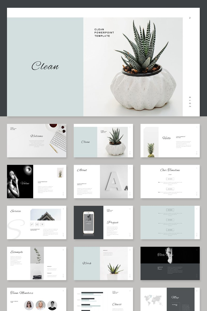 Stylish Minimal Template PowerPoint №85770