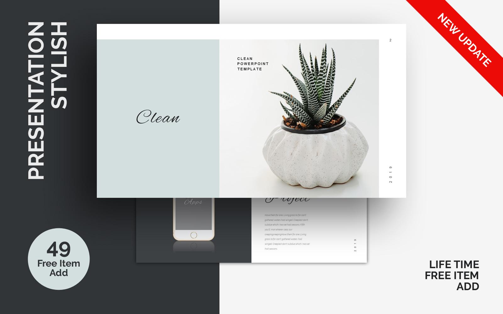 Szablon PowerPoint Stylish Minimal #85770