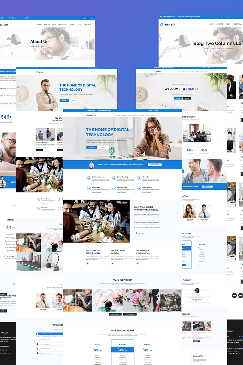 """""""Themexp - Corporate Responsive"""" Bootstrap Website template №85736"""