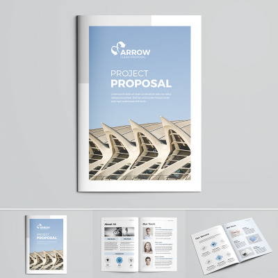 Business Proposal Corporate Identity Template #85826