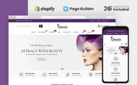 Beauty Cosmetics Store Shopify Theme