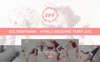 Goldenframe - Wedding Website Template