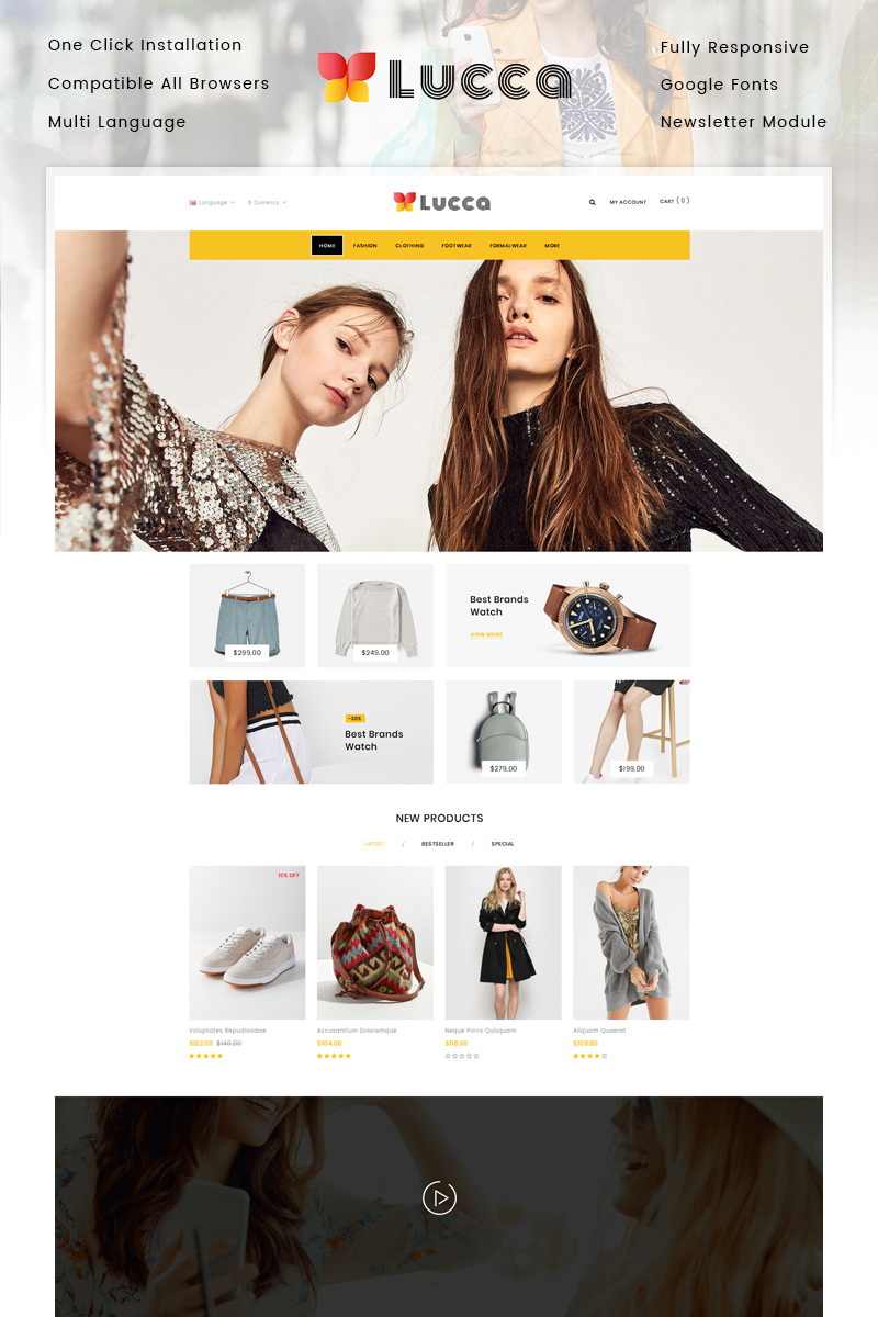 Lucca - Fashion Store OpenCart Template