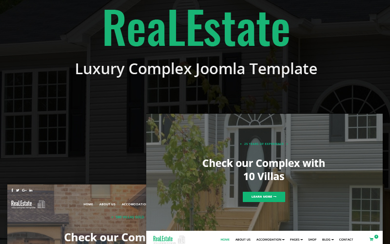 """ReaLEstate - Luxury Complex"" Joomla模板 #85948"