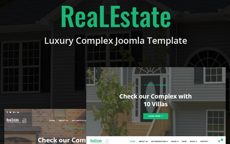 """""""ReaLEstate - Luxury Complex"""" - Joomla шаблон №85948"""