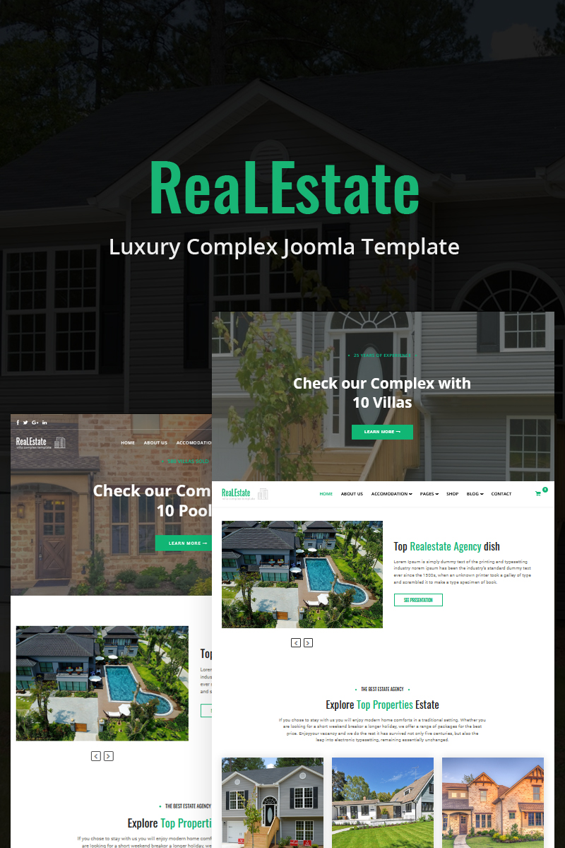 ReaLEstate - Luxury Complex Joomla Template - screenshot