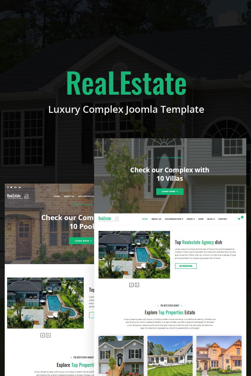 """""""ReaLEstate - Luxury Complex"""" thème Joomla  #85948"""