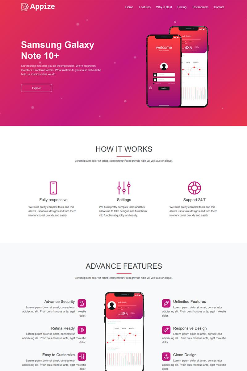 Szablon Landing Page Appize - App #85943