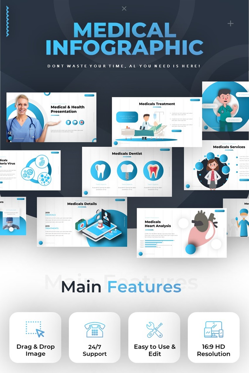 Szablon PowerPoint Medical Infographic #85984