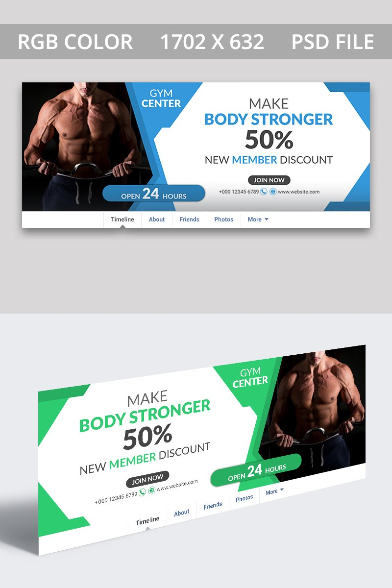 "Tema Social Media #85941 ""Gym Facebook Cover"""