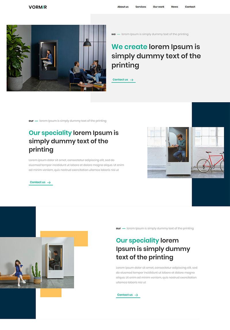 Demo Preview for Vormir - Agency Website Template #85911