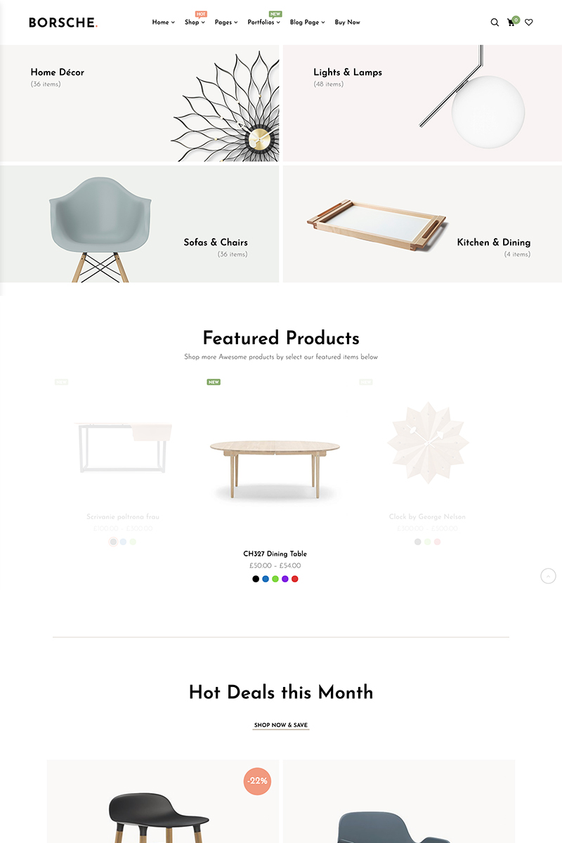 "WooCommerce Theme namens ""Borsche"" #85910 - Screenshot"