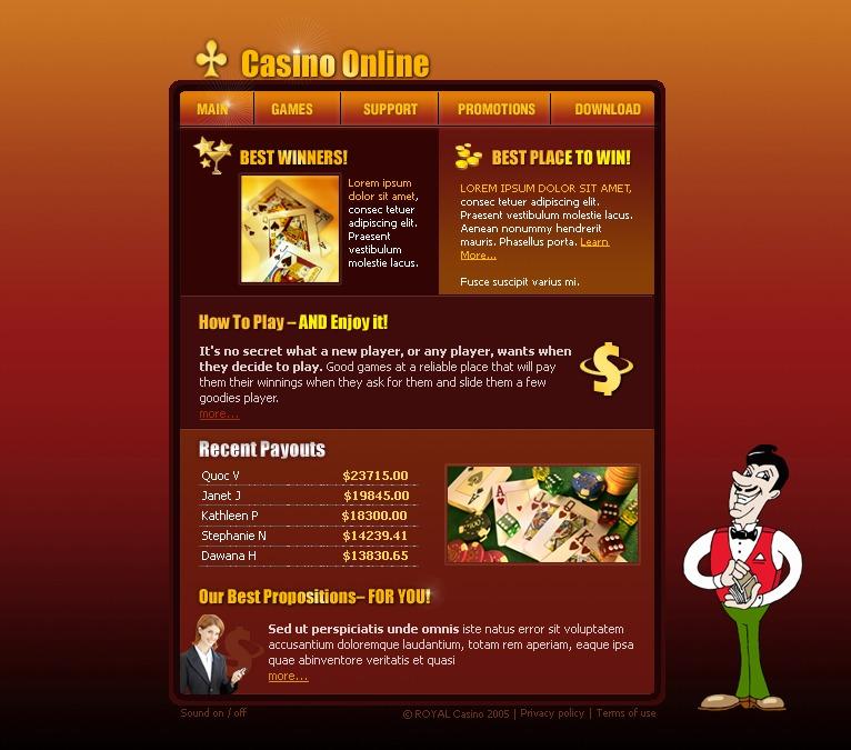 Casino Flash Templates