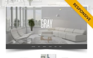 Gray Furniture Store OpenCart Template