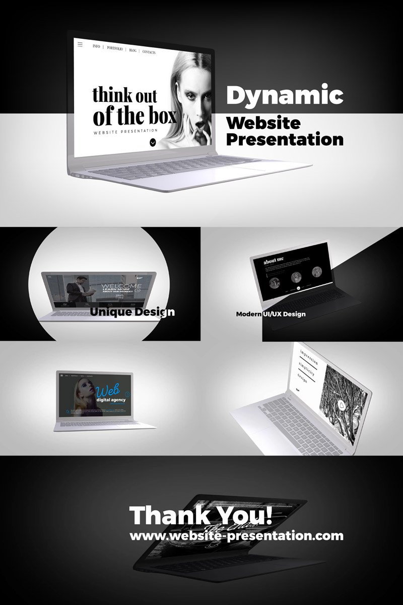 "After Effects Intro namens ""Dynamic Website Presentation"" #86095"