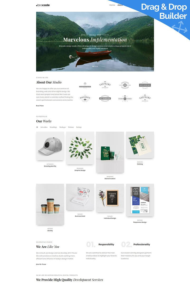 Brocade - Design Studio Moto CMS 3 Template