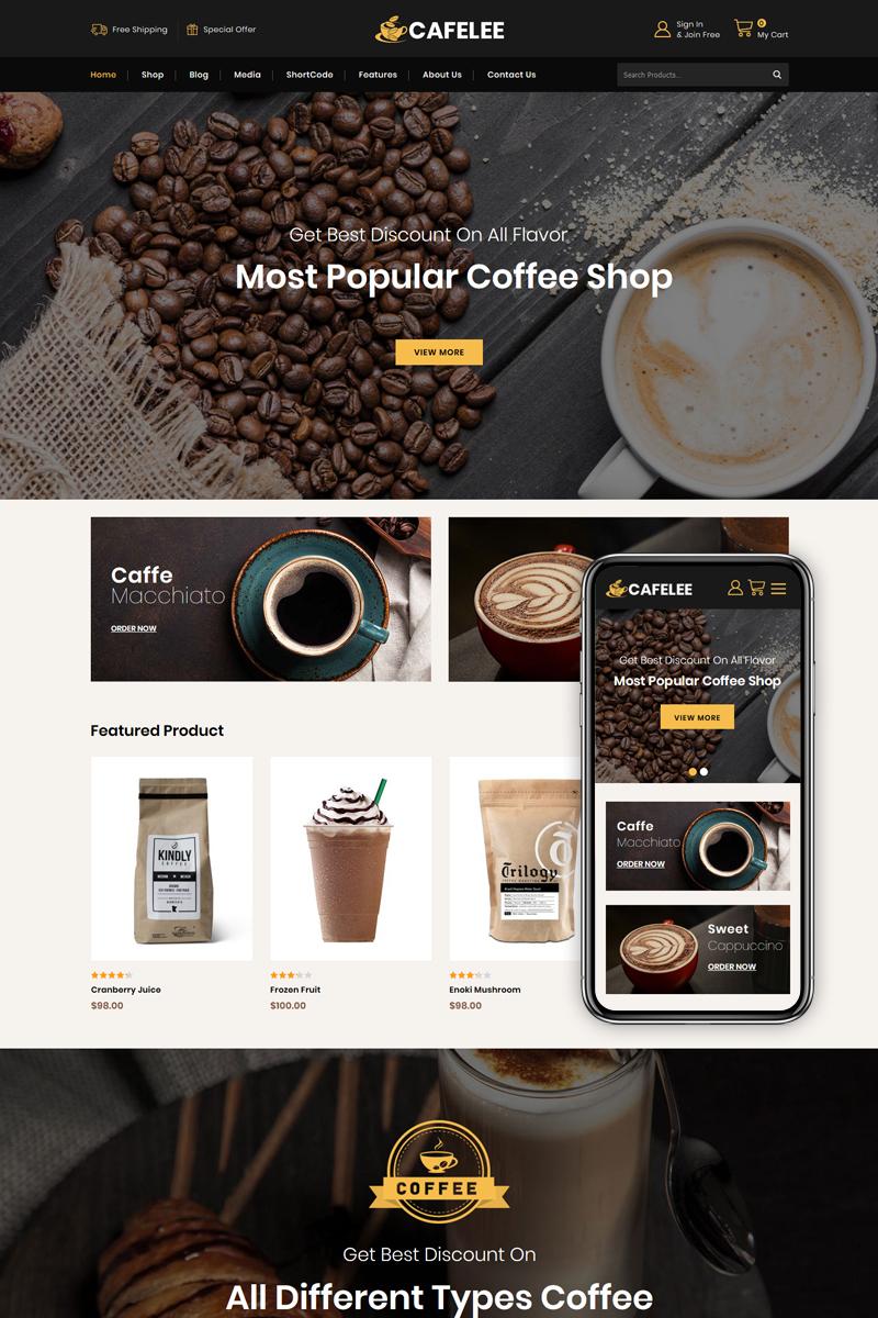 """""""Cafelee - Food & Restaurant Store"""" thème WooCommerce adaptatif #86038"""
