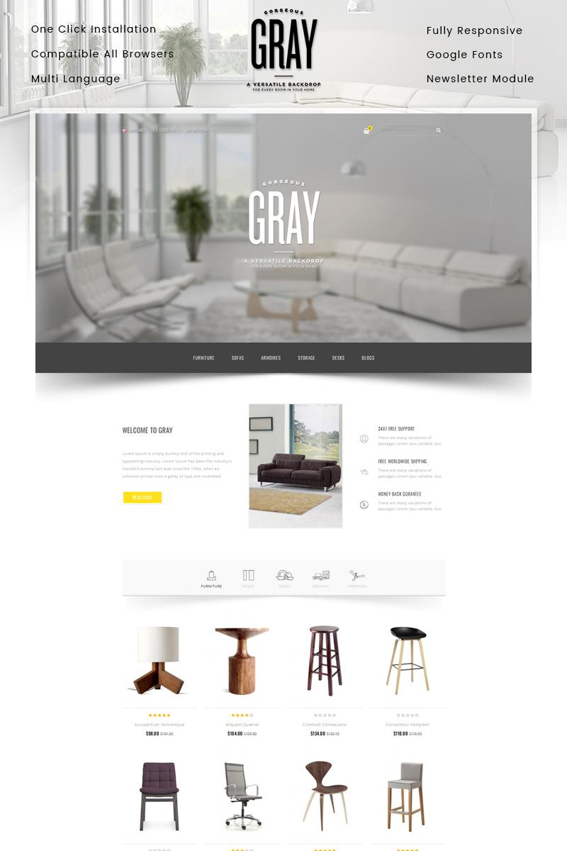 """Gray Furniture Store"" - адаптивний OpenCart шаблон №86039"