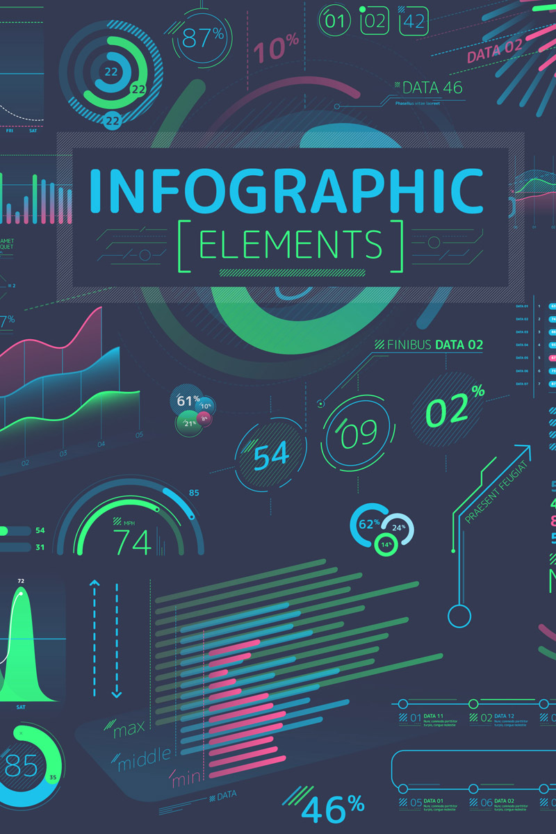 """Managed Infographic Elements"" After Effects 屏保 #86093"