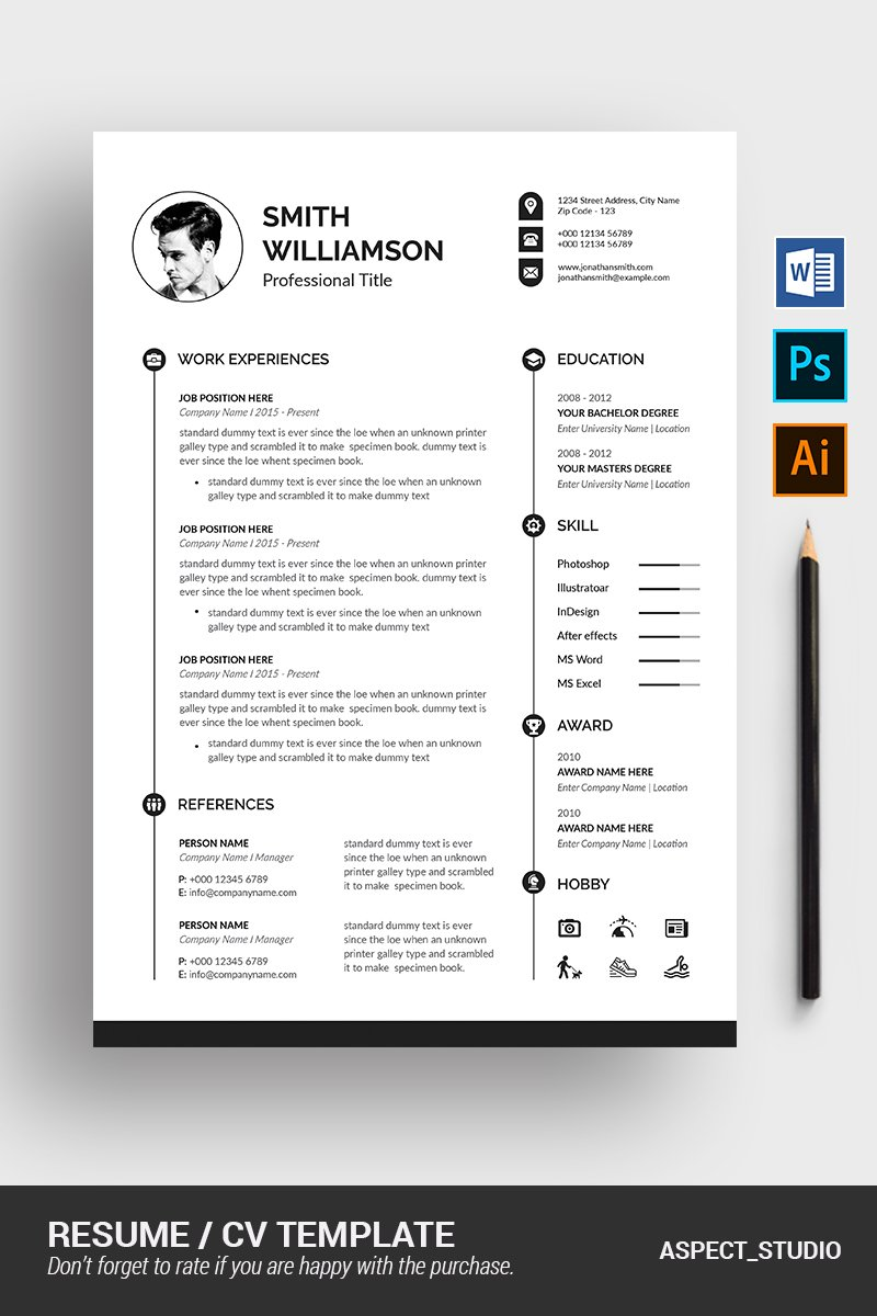 Michael  Richardson Resume Template - screenshot