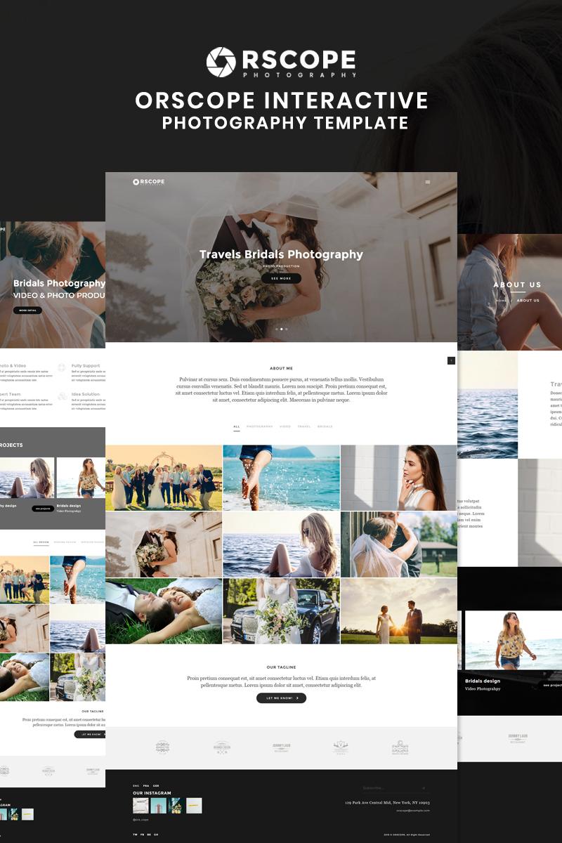 """Orscope - Interactive Photography"" Responsive Website template №86040"
