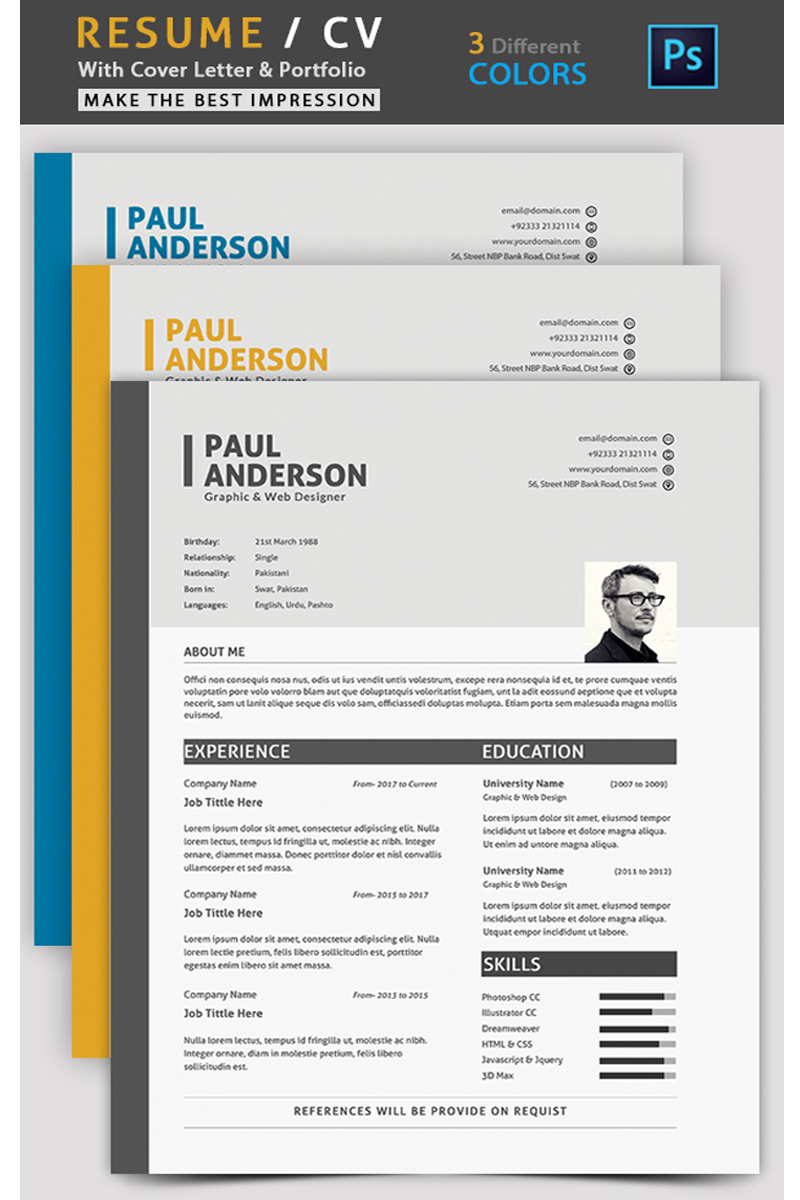 Paul Anderson Resume Template