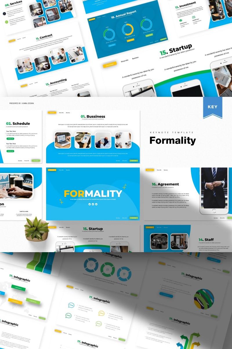"""Plantilla Keynote """"Formality  """" #86015"""
