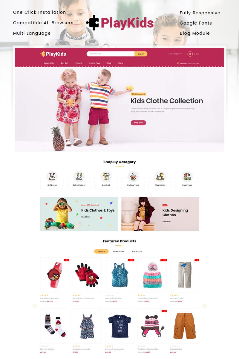 """PlayKids - Kids Store"" Responsive PrestaShop Thema №86099"