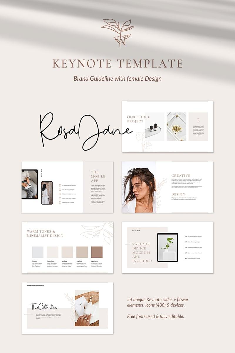 Rosa Jane Keynote Brand Guidelines Keynote Template