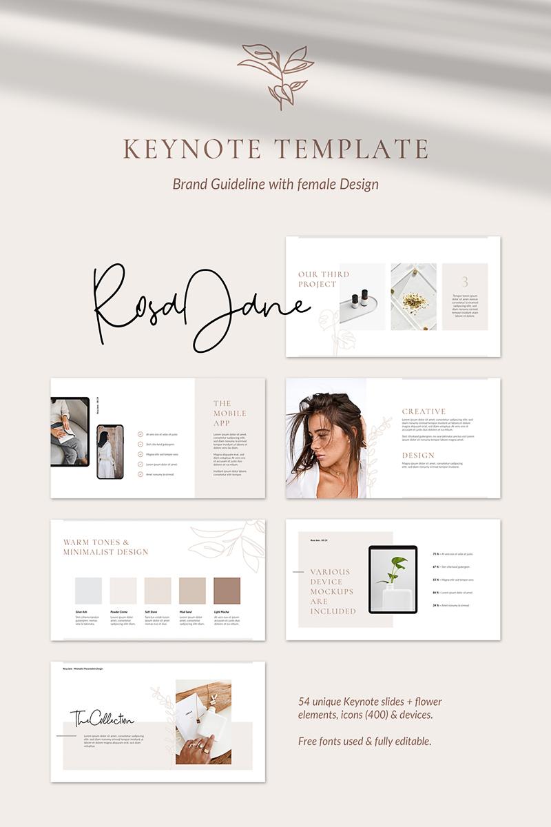 Rosa Jane Keynote Brand Guidelines Keynote Template - screenshot