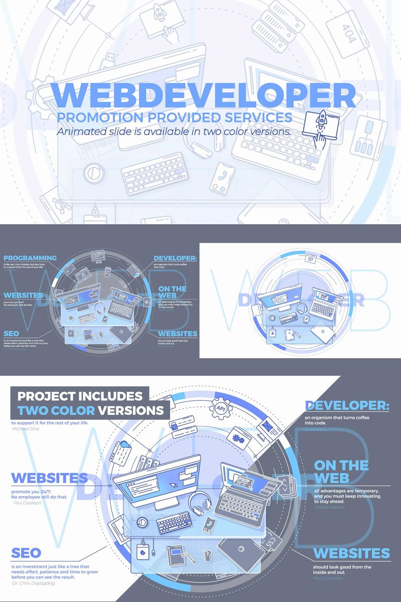 """""""Web Developer Promo"""" After Effects Intro №86094"""